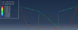 تحلیل خرپا آنالیز خرپا پروژه خرپا متلب خرپا مقایسه نتایج خرپا اجزا محدود آباکوس پروژه آباکوس پروژه مقاومت مصالح خرپایی دوبعدی حذف کابل