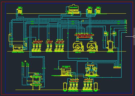 پلان تاسیسات مکانیکی نقشه اتوکد تاسیسات پلان موتورخانه پلان لوله کشی پلان تاسیسات ساختمانی مهندسی مکانیک پروژه نقشه کشی پروژه پلان تاسیسات