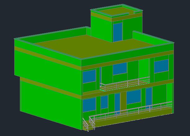 نقشه دوبعدی و سه بعدی ساختمان پلان