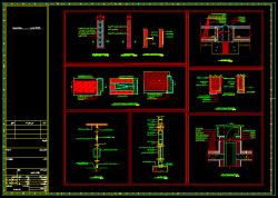 دانلود نقشه اتوکد جزییات اجرای دیوار داخلی و خارجی اسکوپ سنگ نما پوشش درز انبساط بام نعل درگاه روی دیوار 10 و 20 سانتی اتصال فرم درها به دیوار جزییات در فلزی و سکوریت